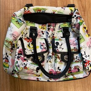 Disney Parks faux leather Mickey and Minnie bag